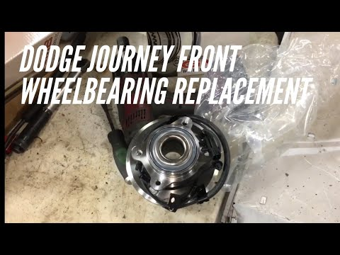 Dodge journey front wheel bearing replacement how to