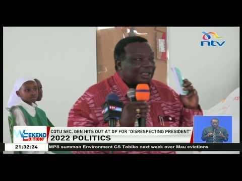 Hamutamwona Ruto katika uongozi wa kenya, Atwoli declares