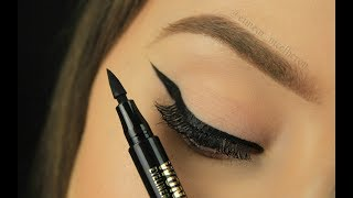 Stamp on Perfect Winged Liner?! | Drugstore Version | Eimear McElheron