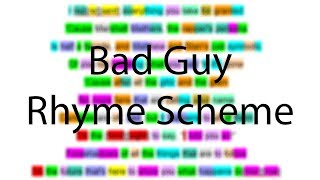 Bad Guy - Eminem | Verse 4 Rhyme Scheme