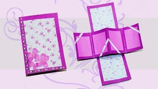 Do if yourself greeting cards twist and pop card / diy gift card / Love card / Julia DIY