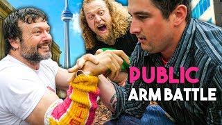 STREET HUSTLER VS PRO ARM WRESTLER *unexpected*