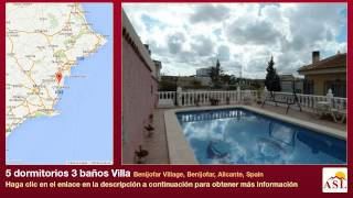 preview picture of video '5 dormitorios 3 baños Villa se Vende en Benijofar Village, Benijofar, Alicante, Spain'