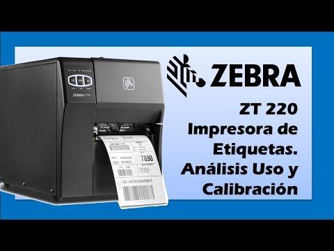 Zebra® ZT220™ Impresora de Etiquetas. Análisis, uso y calibración