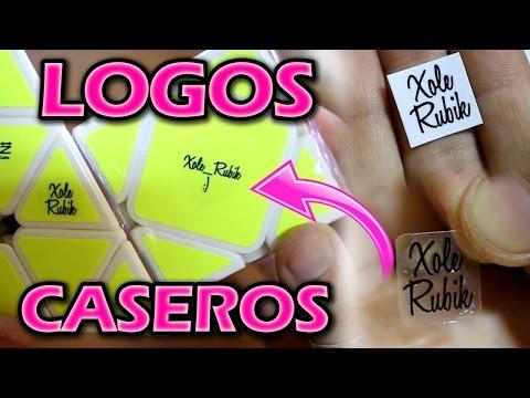 Como hacer LOGOS CASEROS para tus CUBOS DE RUBIK - Ultra Fácil !!