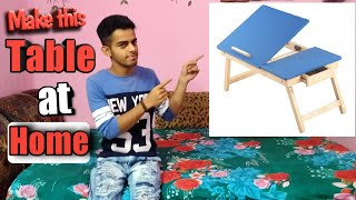 How to make a drawing table at home with Cardboard.