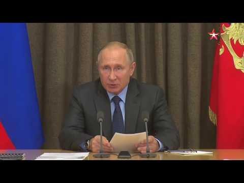 Владимир Путин сообщил, что техника российской армии за три года обновится на 70% онлайн видео