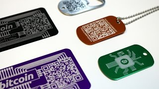Bitstashers Laser Etched Bitcoin Crypto Wallets