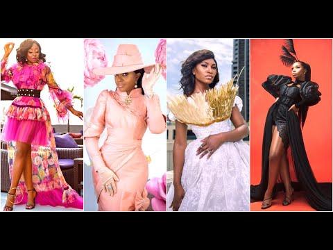 Omoni Oboli, Ini Edo, Ufuoma McDermott & Bambam Celebrate B'day With Dramatic & Elegant Photoshoot