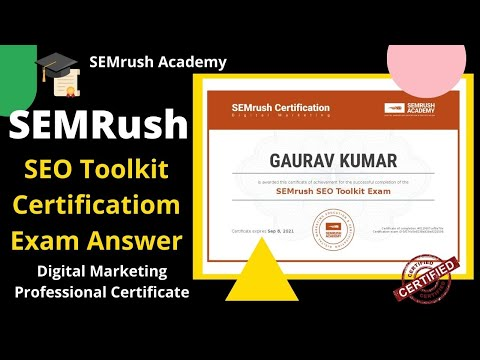 In this video, I'll show you the Semrush SEO toolkit exam answer ...