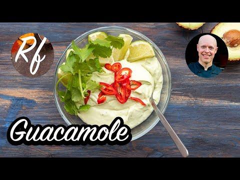 Min version av guacamole med mosad avokado och lime med mera. >