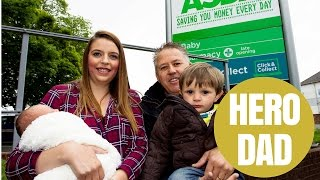 Hero Dad Delivers Baby Daughter In ASDA Car Park