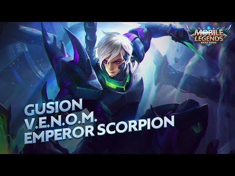 Gusion new skin | V.E.N.O.M. Emperor Scorpion | Mobile Legends: Bang Bang!