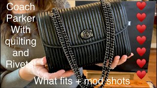 Coach Parker With Quilting And Rivets, What Fits Plus + Mod Shots