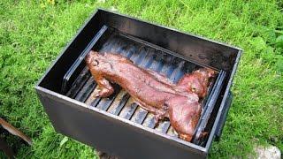 Маринованы кролик горячего копчения дома