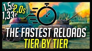 ► The Fastest Reloading Tanks in World of Tanks
