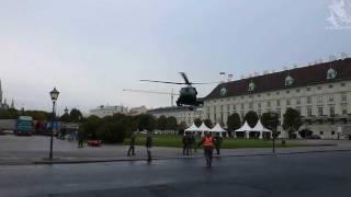 Bundesheer Hubschrauber landen am Heldenplatz 2011