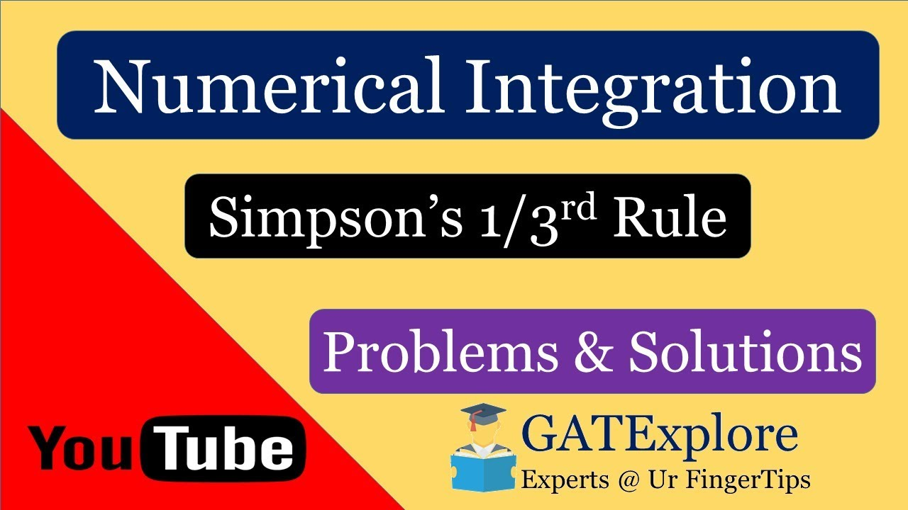 Simpson's 1/3 Rule – Numerical Integration