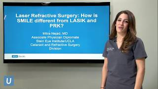 Laser Refractive Surgery:  How is SMILE different from LASIK and PRK?   Mitra Nejad, MD