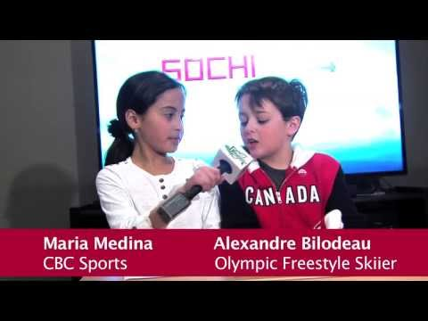Alexandre Bilodeau Interview Sochi 2014 - Grade 4 School Project
