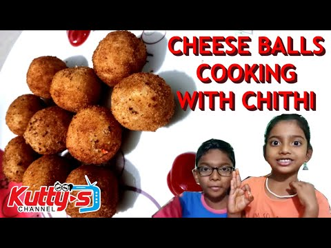 Cooking with Chithi | Kids Snack Recipe in Tamil | Cheese Balls Tamil