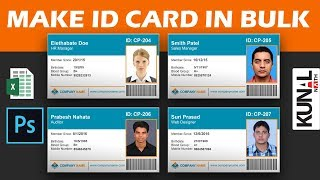 How To Make ID Cards Or Visiting In Bulk With Photoshop Variables And Excel