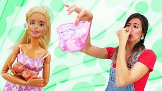 Barbie aprende a cuidar a un bebé. Vídeos para niñas