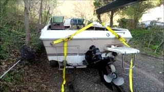 Easy way to Remove 19' Boat from Trailer on Land