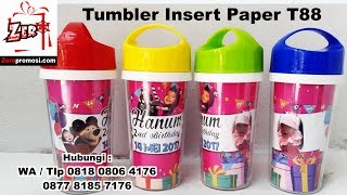 Jual Souvenir Tumbler Insert Paper T88 - botol minum promosi