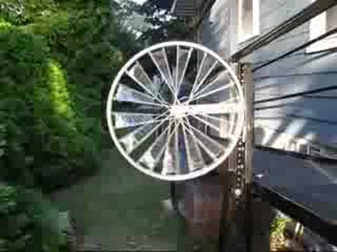A Windmill Made Out Of A Bicycle Rim I Kick Butt