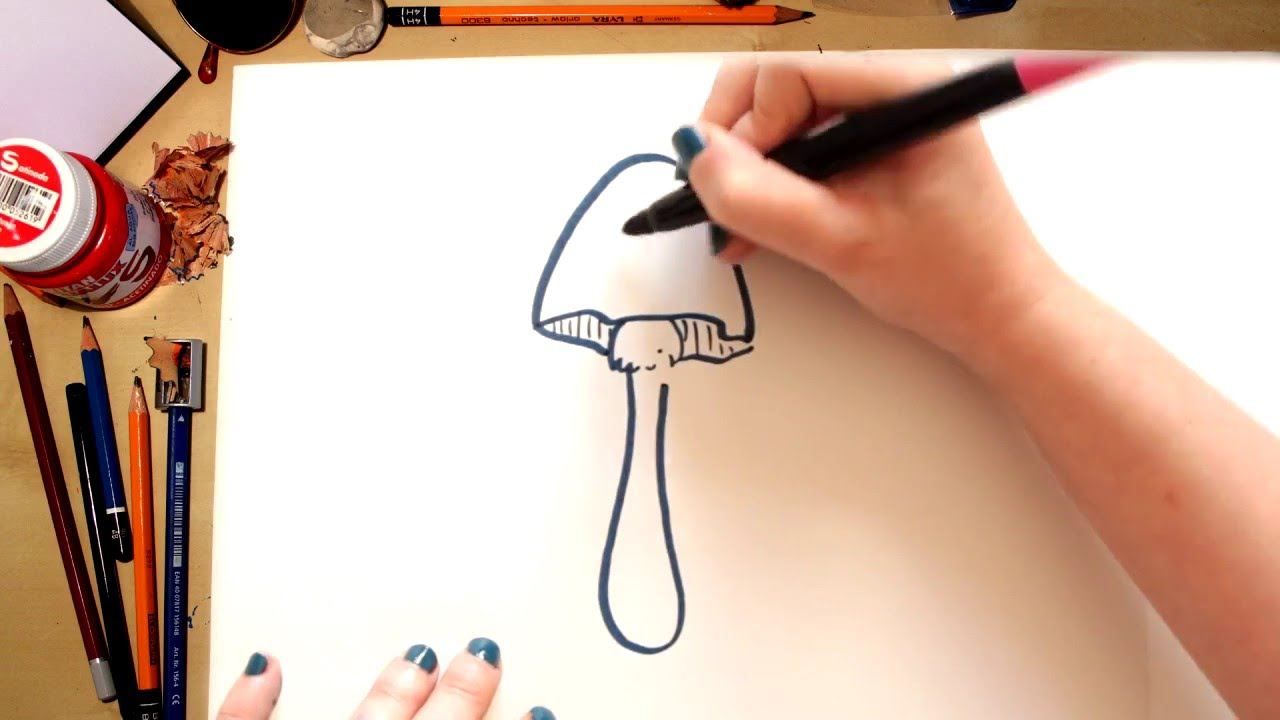 Como dibujar una Seta - dibujos para niños