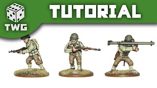 Bolt Action Tutorial: How To Paint US Infantry