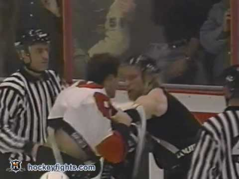 Eric Lindros vs. Marty McSorley