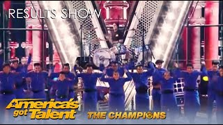 V. Unbeatable ft. Travis Barker BRING THE HOUSE DOWN on @America's Got Talent Champions Results Show