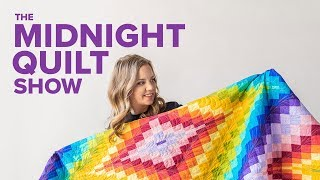 Bargello Beauty Rainbow Quilt | The Midnight Quilt Show Turns 2!  🎉