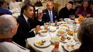 Raw Footage: President Obama's Surprise Lunch Stop