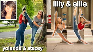 DANCE MOMS Vs DAUGHTERS Funny Photo Challenge With Lilly & Ellie / Ft Abby Lee Miller