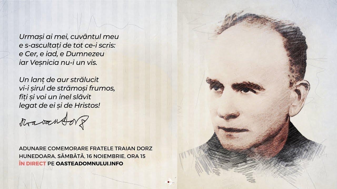 Adunare comemorare fratele Traian Dorz, Hunedoara, 16 noiembrie 2019