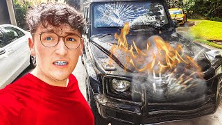 I destroyed his car...