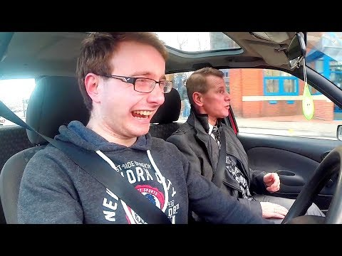 A dads hilarious road rage while giving son driving lessons (BOOP BOOP)