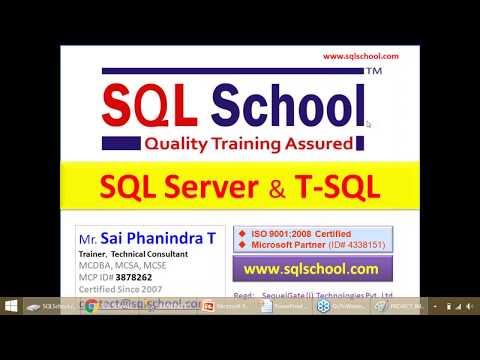 Microsoft SQL Server T SQL Course - YouTube