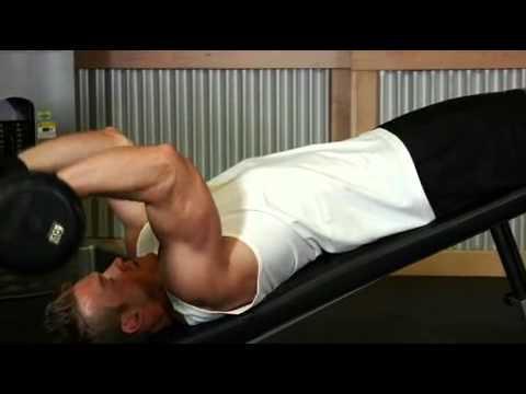 Decline EZ Bar Triceps Extension