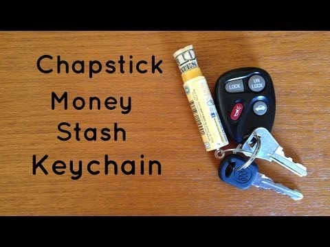 Turn An Old Chapstick Into A DIY Emergency Wallet