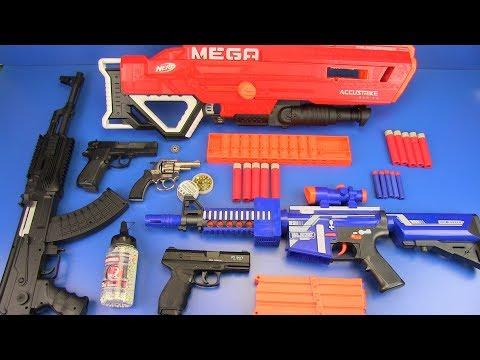Airsoft Guns Toys vs Nerf Guns vs Cap Gun-Revolver Toys