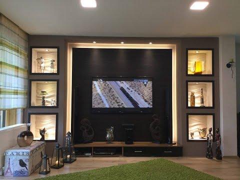 TV Wand selber bauen, Wohnzimmer Living Room, TV Wall