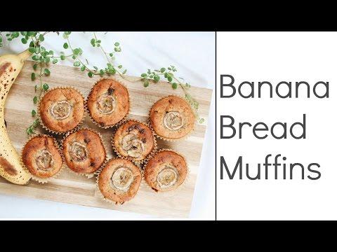 Banana Bread Muffins (Gluten-Free, Oil-Free) | Delicious Nutrition