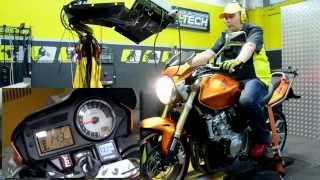 HealTech QuickShifter Easy (QSE) - Dyno Test Run, Honda CB600F Hornet