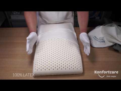 Como Dormir Bien en una Almohada Cervical de Latex Natural - Tradicional Refrescante