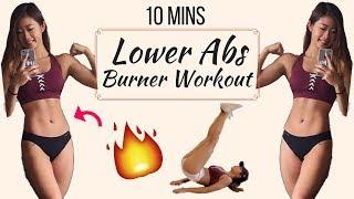10 min Intense Lower Ab Workout BURN BELLY FAT No Equipment | 10分鐘人魚線高強度下腹訓練 | 燃燒腹部脂肪 by Emi Wong • StayFitandTravel