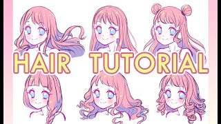 How To Draw Hair【Voice Over】ENG Sub